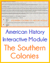 American History Interactive Module - The Southern Colonies