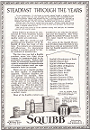 Squibb Products Advertisement, 1922