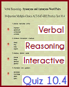 Verbal Reasoning Interactive Quiz 10.4