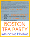 Boston Tea Party Interactive Module