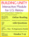 Building Unity Interactive Module for American History