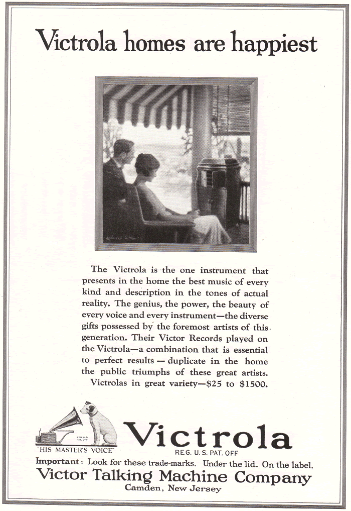 Antique Victrola Advertisement
