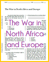 War in North Africa and Europe Reading with Questions