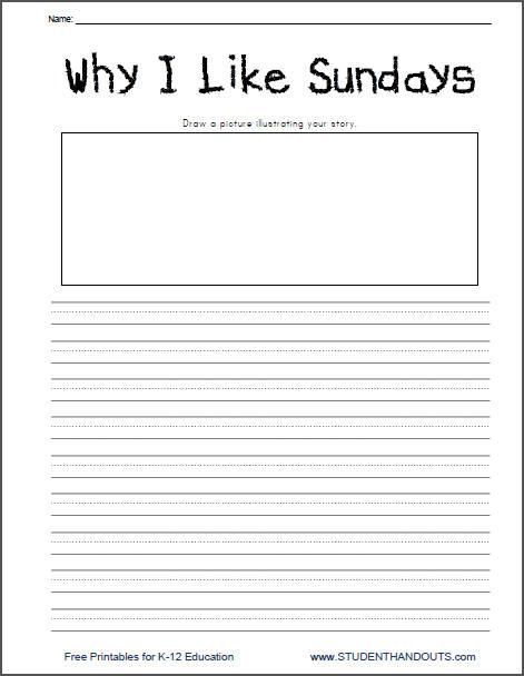 Why I Like Sundays Writing Prompt Printable
