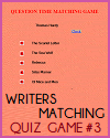 Writers Matching Game #3