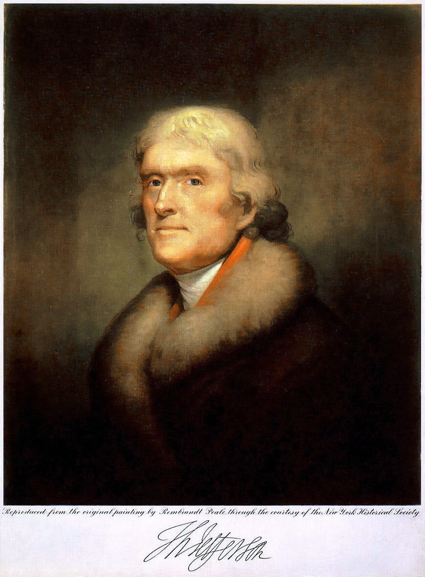 Thomas Jefferson Portrait (1805)