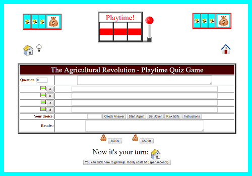 Agricultural Revolution Interactive Playtime Quiz Game