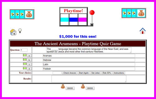 The Ancient Arameans - Playtime Quiz Game