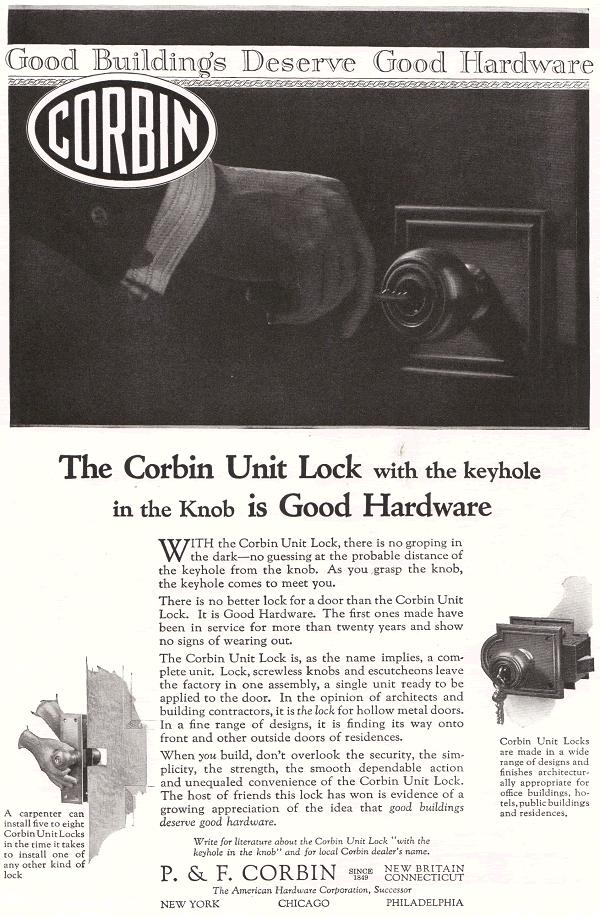 Corbin Unit Lock