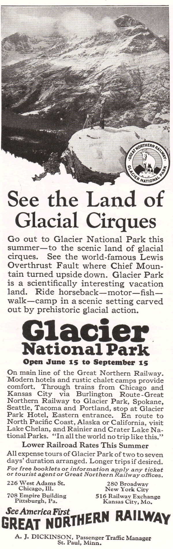 See America First: Great Northern Railway to Glacier National Park