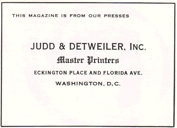 Judd and Detweiler, Inc., Master Printers