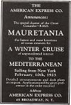 Mauretania Winter Cruise on the Mediterraean