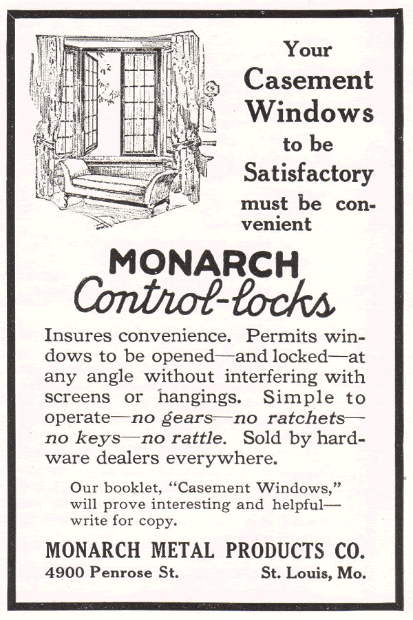 Monarch Control-locks for Casement Windows