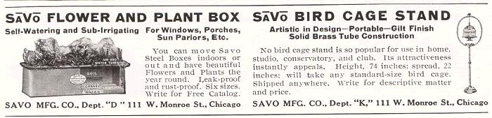 SaVo Flower and Plant Box and SaVo Bird Cage Stand