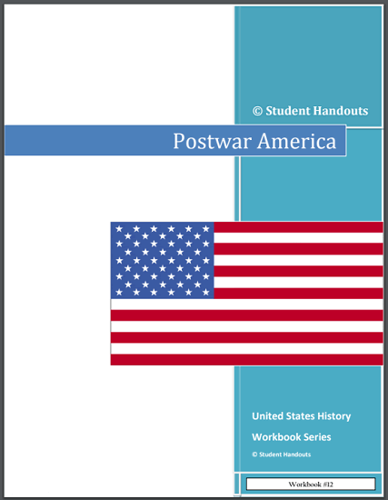 Postwar America - United States History workbook for high school is free to print (PDF file).
