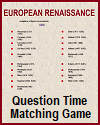 European Renaissance Question Time Matching Game