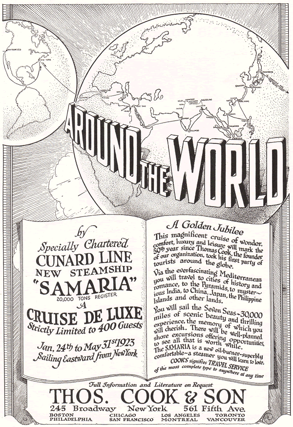 Cunard Line Samaria Cruise de Luxe