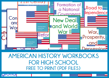 United States History Workbooks for High School - Free to Print (PDF Files)