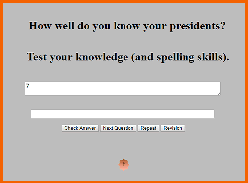 United States Presidents In Other Words Game