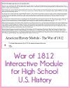 War of 1812 Interactive Module
