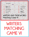 Writers Matching Game #6