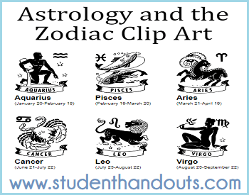 Free Astrology and the Zodiac Clip Art Gallery