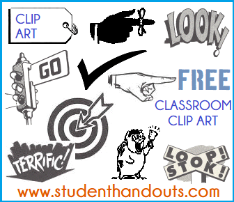 Free Classroom Sign-making Clip Art for Teachers