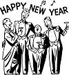 Happy New Year choir
