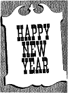 Happy New Year Public Sign