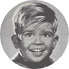 little blond boy smiling