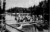 boating on a lake