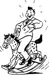 man on a rocking horse