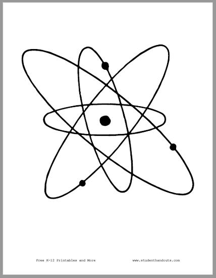 Atom Science Room Sign - Free to print (PDF file).