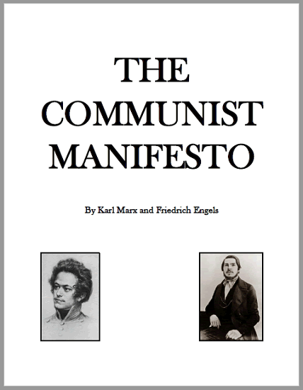 The Communist Manifesto by Marx and Engels - Free to print (PDF file). Complete text, 39 pages in length, with footnotes.