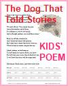 """""""The Dog That Told Stories"""" Poem Worksheets"""