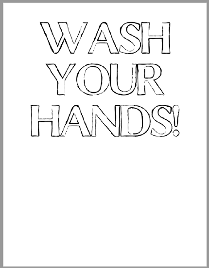 Wash Your Hands Worksheets for Kids - Free to print (PDF files).