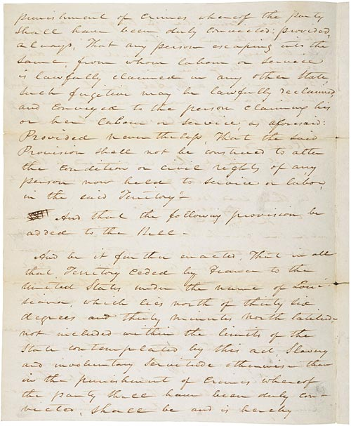 Missouri Compromise (1820) Page 1