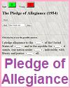 Pledge of Allegiance Gap Text Quiz Game