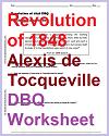 Alexis de Tocqueville on the Revolution of 1848 - DBQ Worksheet