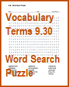 Vocabulary Terms 9.30 Word Search Puzzle