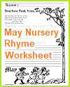 First of May Rhyme Worksheet