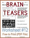 Brain Teasers Worksheet #12
