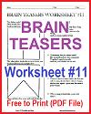 Brain Teasers Worksheet #11