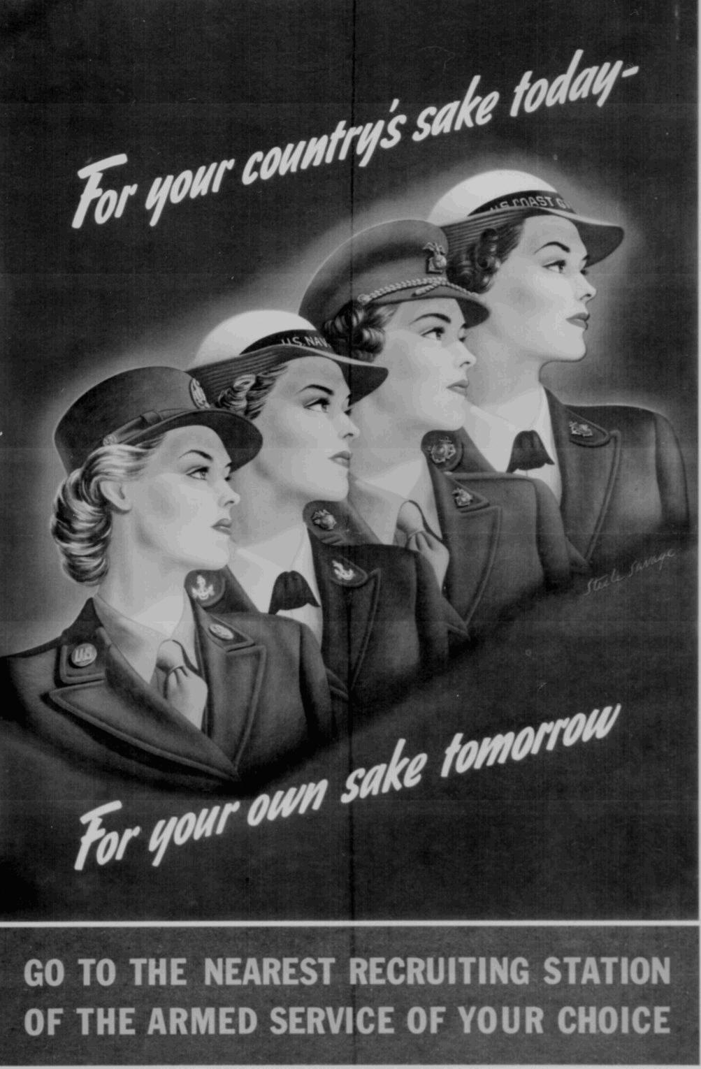 World War II Recruitment Poster for Women in the Military