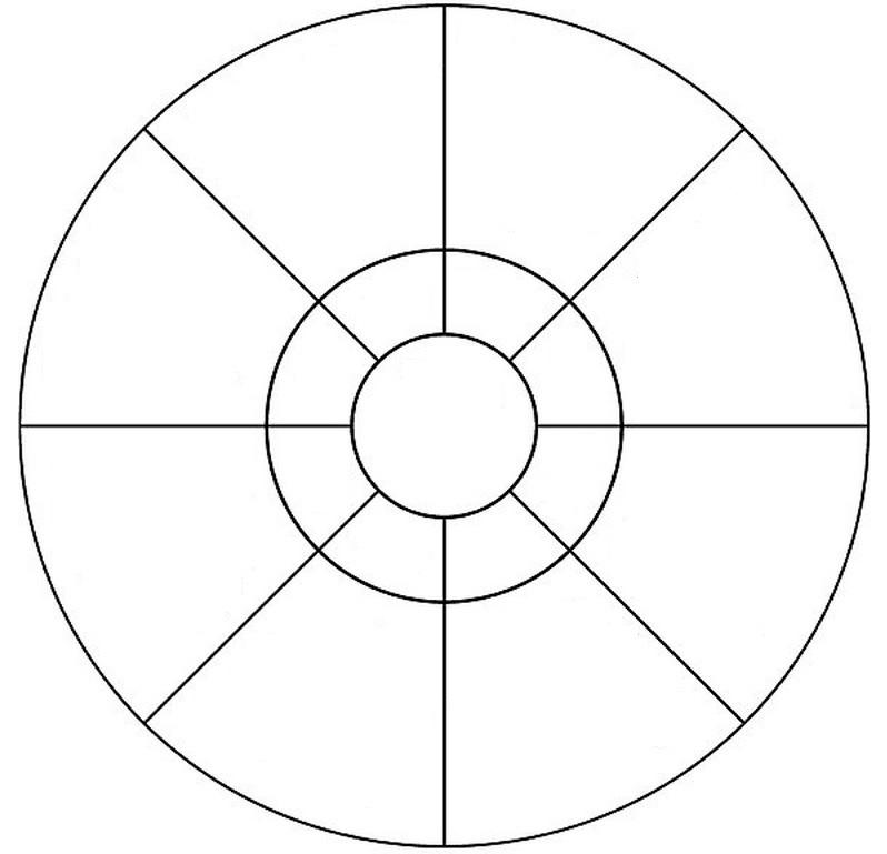 circular 8 compartment graphic organizer student handouts