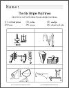 Six Simple Machines Identification Worksheet