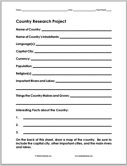 Here Is A Fun And Simple Fact Sheet For Researching An