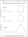 Shapes Worksheet: Square, Circle, and Triangle