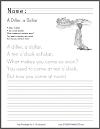 A Diller, a Dollar - Nursery rhyme worksheets.