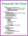 Alexander the Great of Macedon Printable Outline